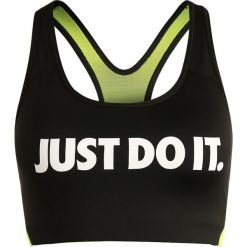 Biustonosze sportowe: Nike Performance PRO CLASSIC SWOOSH COOLING Biustonosz sportowy black/volt/white
