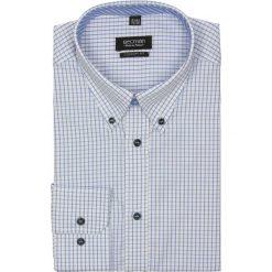 Koszula croft 2189 długi rękaw custom fit niebieski. Niebieskie koszule męskie jeansowe marki Recman, na lato, m, w kratkę, button down, z długim rękawem. Za 29,99 zł.