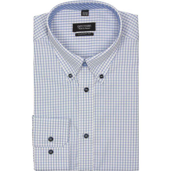 e291b9901 koszula croft 2189 długi rękaw custom fit niebieski - Niebieskie ...