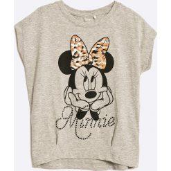 Name it - Top dziecięcy Minnie Mouse 110-140 cm. Szare bluzki dziewczęce marki Name it, z motywem z bajki, z bawełny, z okrągłym kołnierzem. W wyprzedaży za 39,90 zł.