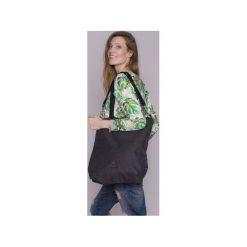 TORBA DAMSKA na ramię grafit. Szare torebki klasyczne damskie drops, w paski, z bawełny. Za 111,20 zł.