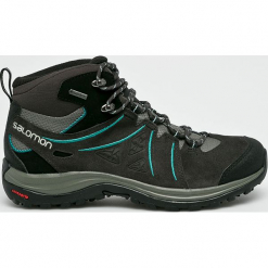 Salomon - Buty Ellipse 2 Mid. Szare buty trekkingowe damskie marki Salomon, z gore-texu, na sznurówki, outdoorowe, gore-tex. W wyprzedaży za 549,90 zł.