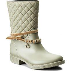 Kalosze GUESS - Romy FLROW3 RUB11 LBEIG. Niebieskie buty zimowe damskie marki Guess, z materiału. W wyprzedaży za 289,00 zł.