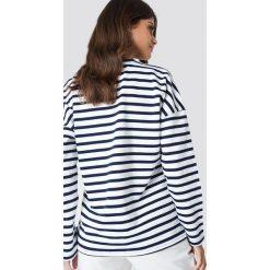 Bluzy rozpinane damskie: MANGO Bluza z haftowanym napisem - White,Multicolor