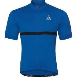 Odlo Koszulka rowerowa Shirt s/s full zip Fujin C/O niebieska r. XL (411262/20429). Niebieskie odzież rowerowa męska marki Odlo, m. Za 141,75 zł.