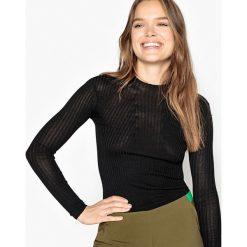 Swetry damskie: Sweter z okrągłym wycięciem szyi, drobny splot