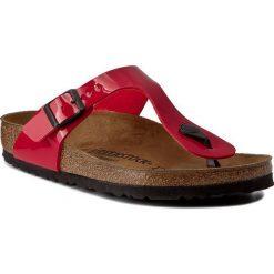 Chodaki damskie: Japonki BIRKENSTOCK - Gizeh 0743191 Tango Red Patent