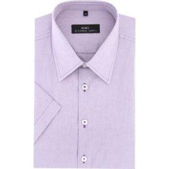 Koszula FABIO 16-04-24-K. Niebieskie koszule męskie na spinki marki bonprix, m, z nadrukiem, z klasycznym kołnierzykiem, z długim rękawem. Za 149,00 zł.