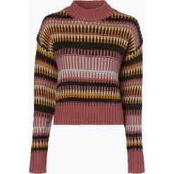 Swetry klasyczne damskie: Review - Sweter damski z dodatkiem alpaki, biały