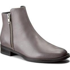 Botki EVA MINGE - Odalys 2F 17GR1372265EF  109. Szare buty zimowe damskie Eva Minge, ze skóry, na obcasie. W wyprzedaży za 289,00 zł.