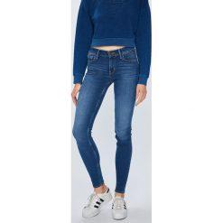Levi's - Jeansy 710. Brązowe jeansy damskie rurki marki Levi's®, z bawełny. Za 399,90 zł.