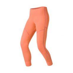 Odlo Spodnie Pants long X-WARM pomarańczowe r. S. Brązowe spodnie sportowe damskie marki Odlo, s. Za 174,93 zł.