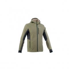 Kurtka Softshell trekkingowa Trek 900 WindWarm męska. Brązowe kurtki męskie outdoor QUECHUA, m, z elastanu. Za 199,99 zł.