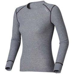 Odlo Koszulka tech. Odlo Shirt l/s crew neck WARM - 152021 - 152021L. Szare topy sportowe damskie marki Odlo, l. Za 152,95 zł.