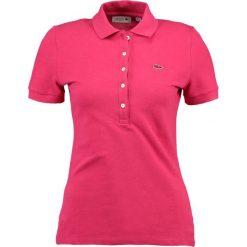 Lacoste BASIC Koszulka polo stacy chine. Czerwone t-shirty damskie Lacoste, z bawełny, polo. Za 399,00 zł.