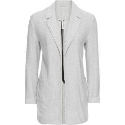 Marynarki i żakiety damskie: Żakiet shirtowy bonprix jasnoszary melanż