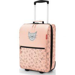 Walizka Trolley Kids XS Cats and Dogs brzoskwiniowa. Pomarańczowe walizki marki Reisenthel, w kolorowe wzory, z materiału, duże. Za 379,00 zł.