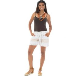 Bermudy damskie: Szorty w kolorze białym