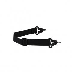 Pasek trzymający elastyczny STRAP HOOK 500. Czarne paski męskie QUECHUA, w paski, z materiału. Za 14,99 zł.