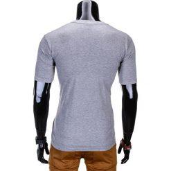 T-shirty męskie: T-SHIRT MĘSKI Z NADRUKIEM S775 – SZARY