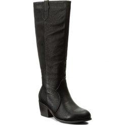 Kozaki JENNY FAIRY - WS16352-9 Czarny. Czarne buty zimowe damskie marki Kazar, ze skóry, na wysokim obcasie. Za 149,99 zł.
