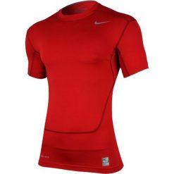 Nike Koszulka męska Core Compression SS Top 2.0 czerwona r. S (449792 653). Czerwone koszulki sportowe męskie Nike, m. Za 84,39 zł.