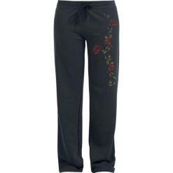 Spodnie dresowe damskie: Tendril Rose Spodnie dresowe czarny