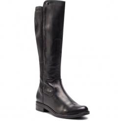 Oficerki CAPRICE - 9-25515-21 Black Nappa 022. Czarne buty zimowe damskie Caprice, ze skóry ekologicznej, przed kolano, na wysokim obcasie, na obcasie. Za 539,90 zł.