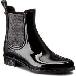Kalosze TOMMY HILFIGER - Odette 6R FW56821556 Black 990. Czarne buty zimowe damskie marki TOMMY HILFIGER, z materiału, z okrągłym noskiem, na obcasie. W wyprzedaży za 199,00 zł.