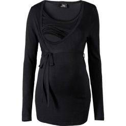 Swetry klasyczne damskie: Sweter ciążowy i do karmienia bonprix czarny