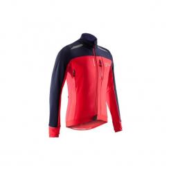 Kurtka na rower szosowy ROADCYCLING 500 męska. Czerwone kurtki męskie B'TWIN, m, z elastanu. Za 199,99 zł.
