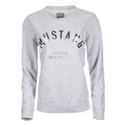 Mustang Bluza Damska M Szary. Niebieskie bluzy damskie marki Mustang, z aplikacjami, z bawełny. Za 196,00 zł.