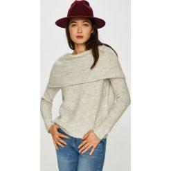 Only - Sweter. Szare swetry klasyczne damskie ONLY, l, z dzianiny, z dekoltem w łódkę. W wyprzedaży za 139,90 zł.