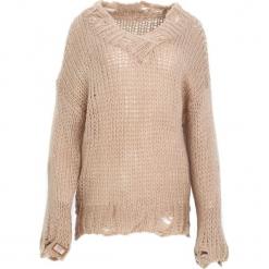 Beżowy Sweter Obeisance. Brązowe swetry klasyczne damskie Born2be, l. Za 79,99 zł.