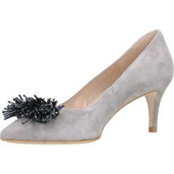 Czółenka RUMI. Szare buty ślubne damskie Gino Rossi, ze skóry, na szpilce. Za 229,90 zł.