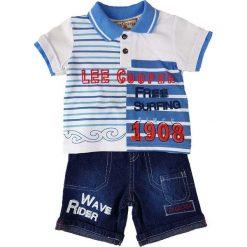 T-shirty chłopięce z krótkim rękawem: 2-częściowy zestaw w kolorze niebieskim