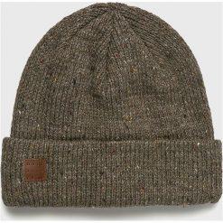 Quiksilver - Czapka. Szare czapki zimowe męskie marki Quiksilver, na zimę, z dzianiny. Za 129,90 zł.