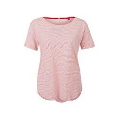S.Oliver T-Shirt Damski 34 Czerwony. Czerwone t-shirty damskie marki S.Oliver, s, z bawełny, z okrągłym kołnierzem. W wyprzedaży za 59,00 zł.