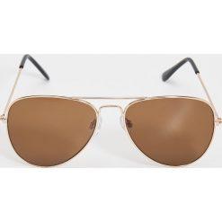 Okulary przeciwsłoneczne damskie aviatory: Okulary przeciwsłoneczne awiatorki – Brązowy