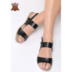 Czarne Skórzane Sandały Escape Gravity. Czarne sandały damskie vices, na płaskiej podeszwie. Za 99,99 zł.