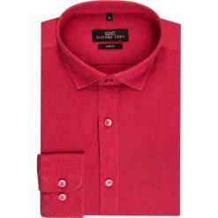Koszula SIMONE KLAS000001. Czerwone koszule męskie na spinki marki Cropp, l. Za 169,00 zł.