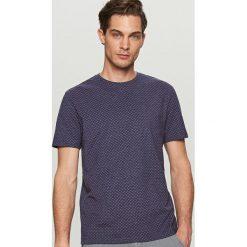 T-shirty męskie: T-shirt z nadrukiem w fale – Granatowy
