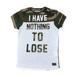 T-shirty chłopięce z nadrukiem: Koszulka w kolorze szaro-oliwkowym
