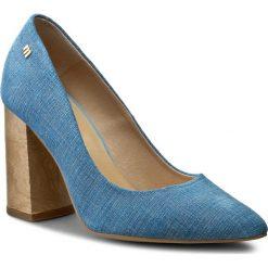 Półbuty MACCIONI - 899 Niebieski/Brąz. Niebieskie półbuty damskie skórzane marki Maccioni, eleganckie, na obcasie. W wyprzedaży za 209,00 zł.