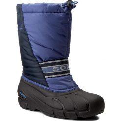 Buty zimowe chłopięce: Śniegowce SOREL – Youth Cub NY1881 Blues 498