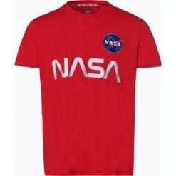 Alpha Industries - T-shirt męski, czerwony. Czarne t-shirty męskie z nadrukiem marki Alpha Industries, m. Za 79,95 zł.