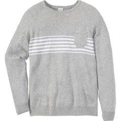 Sweter z kieszonką Regular Fit bonprix jasnoszary melanż. Szare swetry klasyczne męskie marki bonprix, m, melanż. Za 59,99 zł.