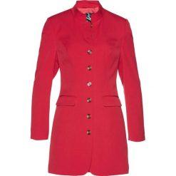 Długi żakiet bonprix czerwony. Czerwone marynarki i żakiety damskie bonprix. Za 139,99 zł.