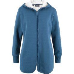 Bluza rozpinana z polarem bonprix jasny indygo melanż. Niebieskie bluzy polarowe marki bonprix, melanż. Za 59,99 zł.