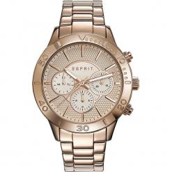 """Zegarek kwarcowy """"Spring"""" w kolorze różowozłotym. Żółte, analogowe zegarki damskie Esprit Watches, ze stali. W wyprzedaży za 318,95 zł."""